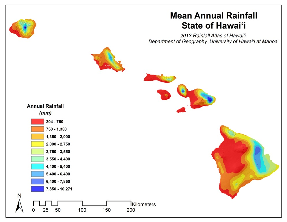 rainfall atlas of hawaii